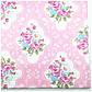 Ткань хлопок 100% отрез 40 на 50 см розовая с цветами, голубые цветы на розовом, Корея, фото 2