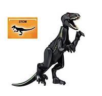 Динозавр Велоцераптор черный Конструктор, аналог Лего