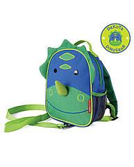 """Рюкзак для малыша SkipHop """"Динозавр"""" с поводком, рюкзачок для мальчика з динозавром Скип Хоп"""