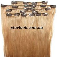 Набор натуральных волос на клипсах 66 см оттенок №19a 160 грамм