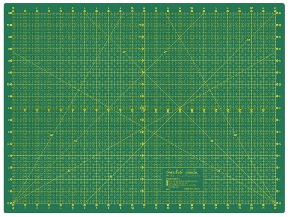 Коврик для пэчворка, двухсторонний Sew Mate DW-12122 (60 x 45 см)