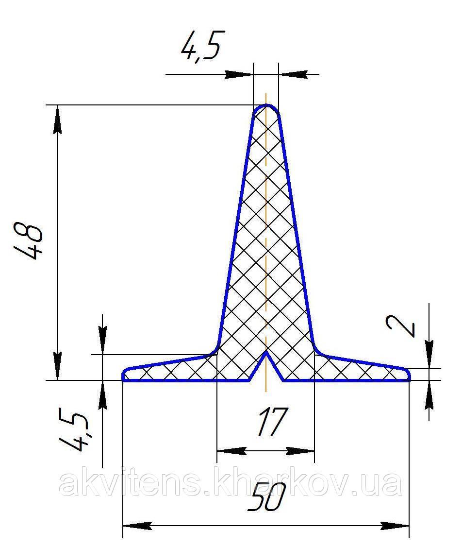 Профиль Т-образный резиновый h=48мм