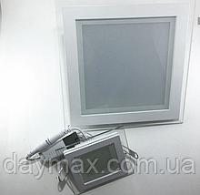 Світильник світлодіодний вбудований LED зі склом 6w,стельовий,квадрат LED LIGHT