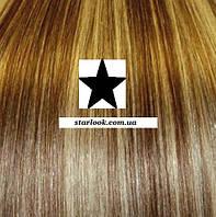Набор натуральных волос на клипсах 70 см. Оттенок №14-613. Масса: 150 грамм.