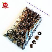 Кнопки для одежды Каппа 15мм. Кнопка киевская №61, Антик (100шт)
