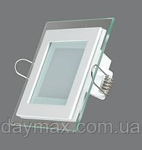 Світильник світлодіодний вбудований LED зі склом 12w,стельовий,квадрат LED LIGHT