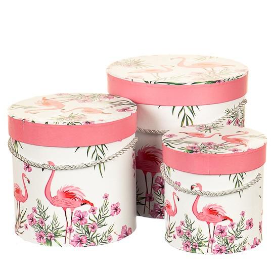 """Набор коробок для цветов с ручкой """" Влюбленные """" ( картон )"""