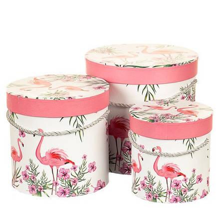 """Набор коробок для цветов с ручкой """" Влюбленные """" ( картон ) , фото 2"""