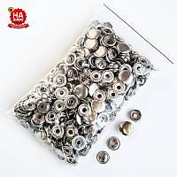 Кнопки для одежды Каппа 15мм. Кнопка киевская №61, Серебро (100шт)