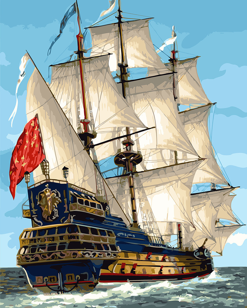 Картина по номерам Парусник королевской флотилии 40 х 50 см (BRM23186)