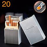 Электронная зажигалка 33244 Портсигар с зажигалкой usb , фото 4