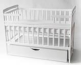 Ліжечко Трансформер Човник дитяче з шухлядою, фото 2