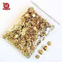 Кнопки для одежды Альфа 12.5мм. Кнопка рубашечная №54, Золото (100шт)