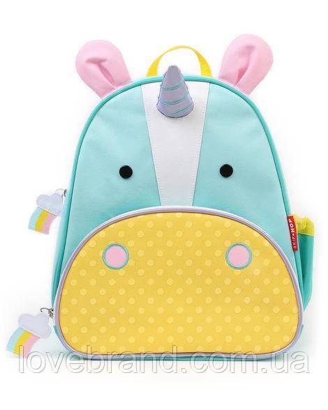 """Рюкзак для девочки SkipHop """"Единорог"""" с поводком, рюкзачок детский Скип Хоп с единорогом"""