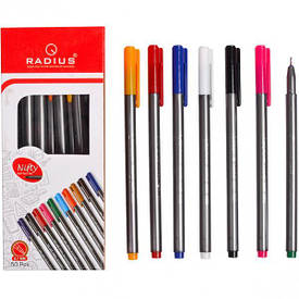 Ручка «Nifty Pen» RADIUS 50 штук корпус 10 цветов 1 упаковка (50 штук)                779283с