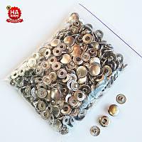 Кнопки для одежды Альфа 12.5мм. Кнопка рубашечная №54, Никель (100шт)