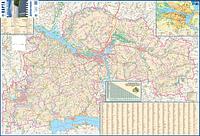 Днепропетровская область.  Карта автомобильных дорог
