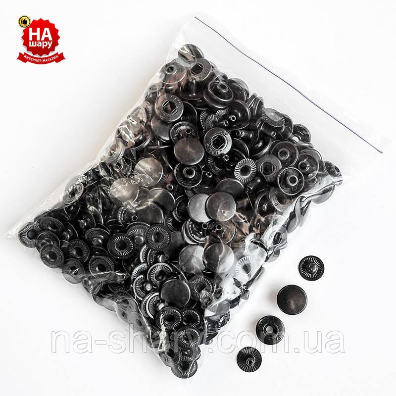 Кнопки для одягу Альфа 12.5 мм Кнопка сорочкова №54, Чорна (100шт)