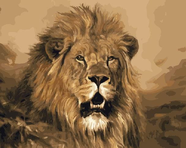 Картина по номерам Гордый лев 40 х 50 см (BRM4624)