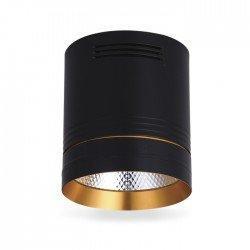 Светодиодный светильник накладной Feron AL542 18W черный-золото