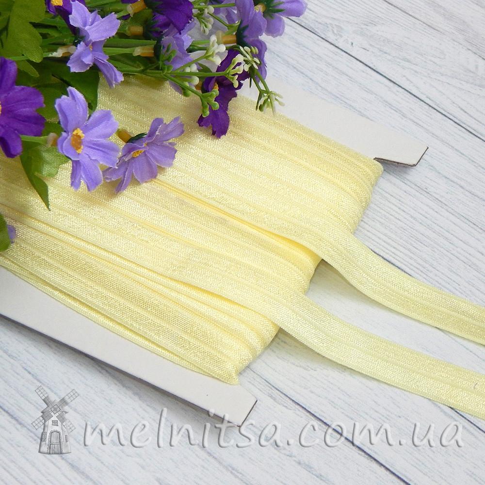 Резинка для повязок (эластичная бейка), 1,5 см, светло-желтый