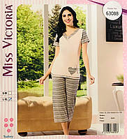 Женская пижама хлопок Miss Victoria Турция размер S-M(44-46) 63088