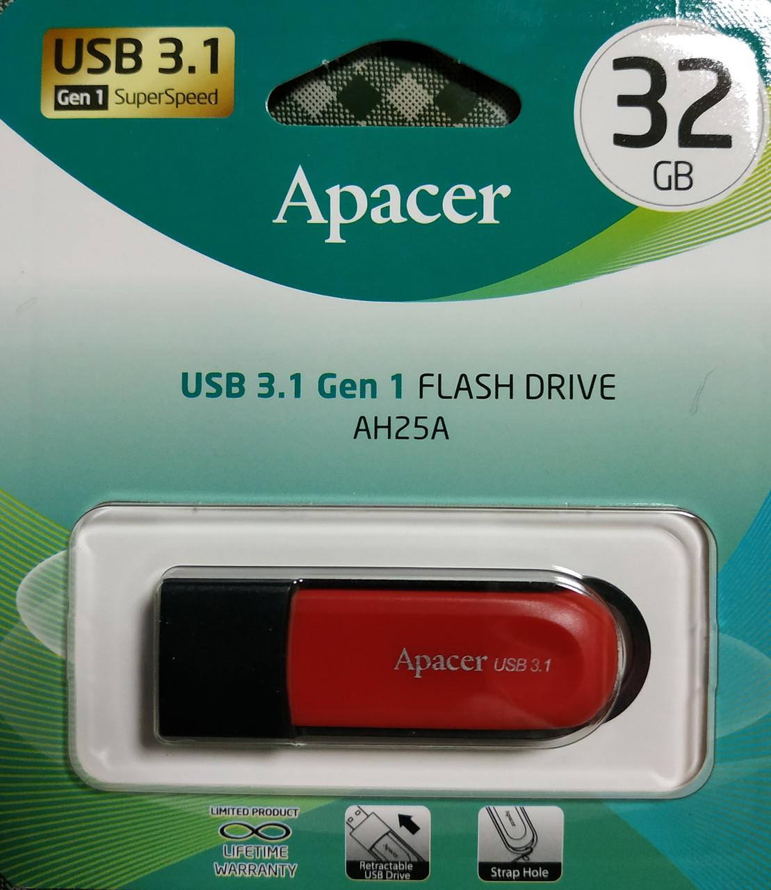 Флеш накопитель Apacer AH25A USB 3.1 Gen 1 32 гб