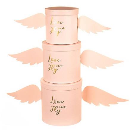 """Набор коробок для цветов """" Ангел """" ( картон ) ( pink ), фото 2"""