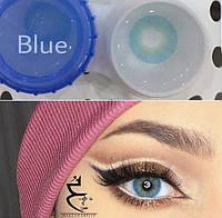 Цветные линзы для глаз Blue Купить цветные линзы для глаз в Украине. Интернет-магазин цветных линз для глаз!, фото 1