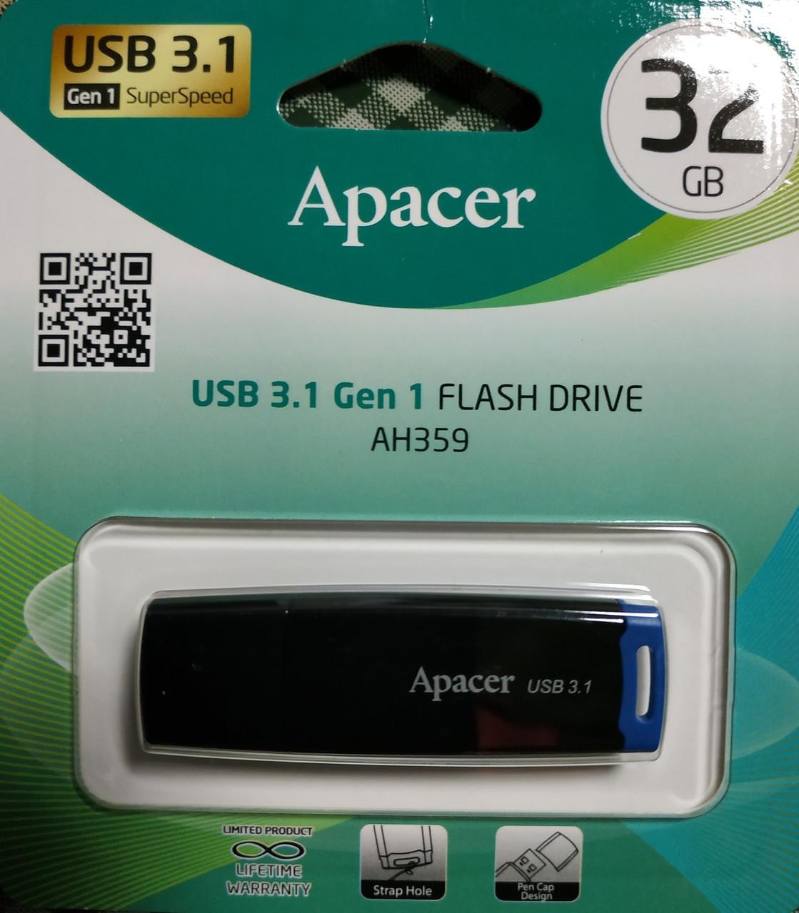 Флеш накопитель Apacer AH359 USB 3.1 Gen 1 32 гб