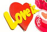 Топпер Love Is, Love Is на палочке, цветные топпера из пластика на день влюбленных,Любовь это..., фото 5
