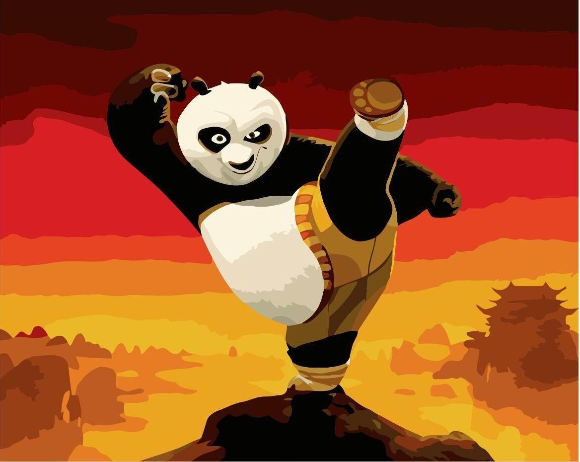 Картина по номерам Панда кунг-фу 40 х 50 см (BRM9970)