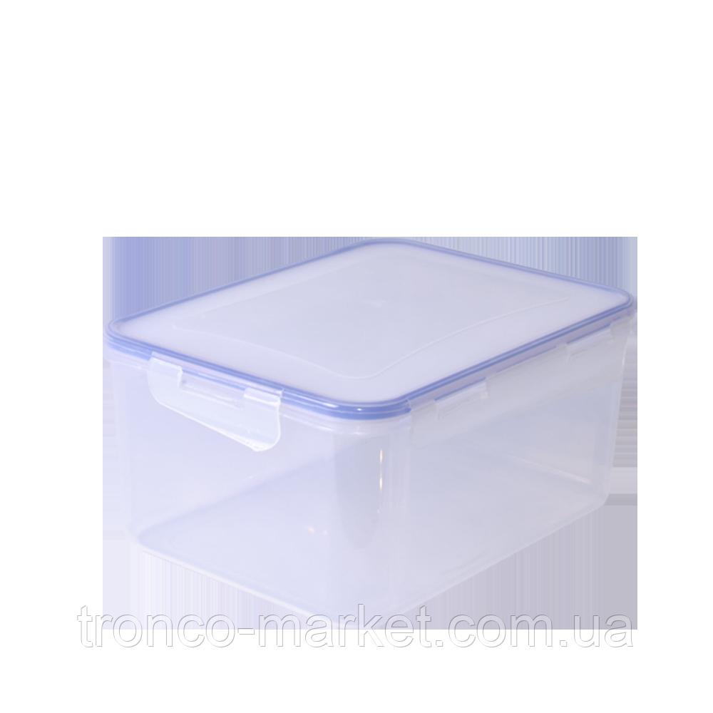 Контейнер для пищевых продуктов с зажимом прямоугольный