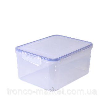 Контейнер для пищевых продуктов с зажимом прямоугольный , фото 2
