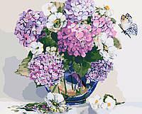 Картина по номерам Гортензия и жасмин 40 х 50 см (KH2083)