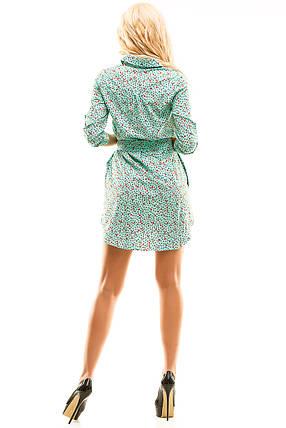 Платье- рубашка 274  мята принт размер 48, фото 2