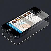 Бронированная защитная пленка (стекло) для Apple iPhone 5/5S, 0,33 mm, Глянцевая /накладка/наклейка /айфон/Защитное стекло/закаленное стекло/бронестек