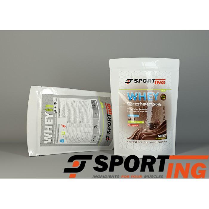 Купить протеин сывороточный 80%, Sporting™ WPC 80% 2.5 кг