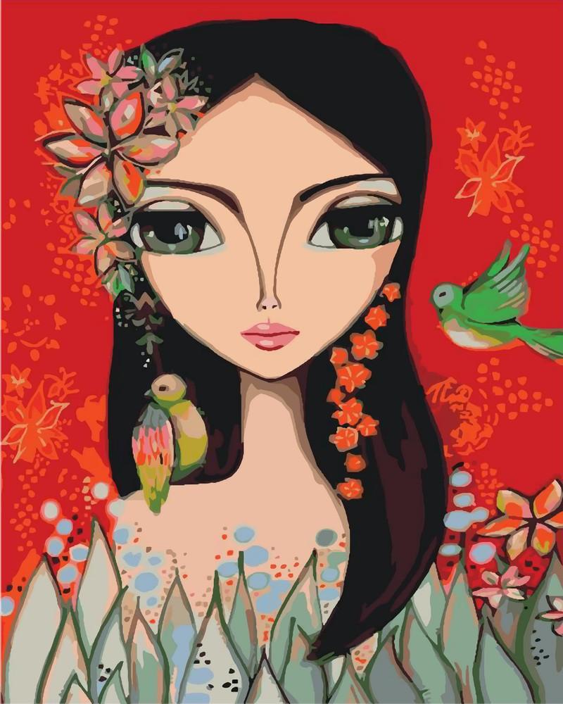 Картина по номерам Яркая девочка 40 х 50 см (KH2685)