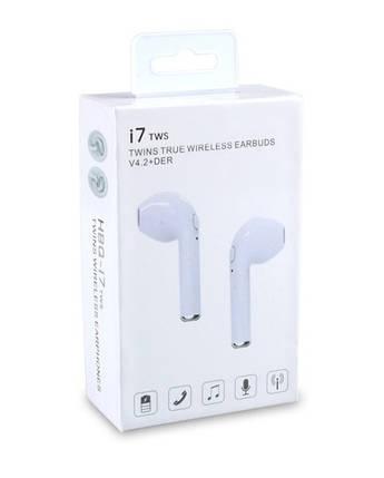 Беспроводные наушники Bluetooth i7 Tws без кейса, фото 2