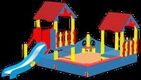 Песочный дворик с горкой GU-1.3