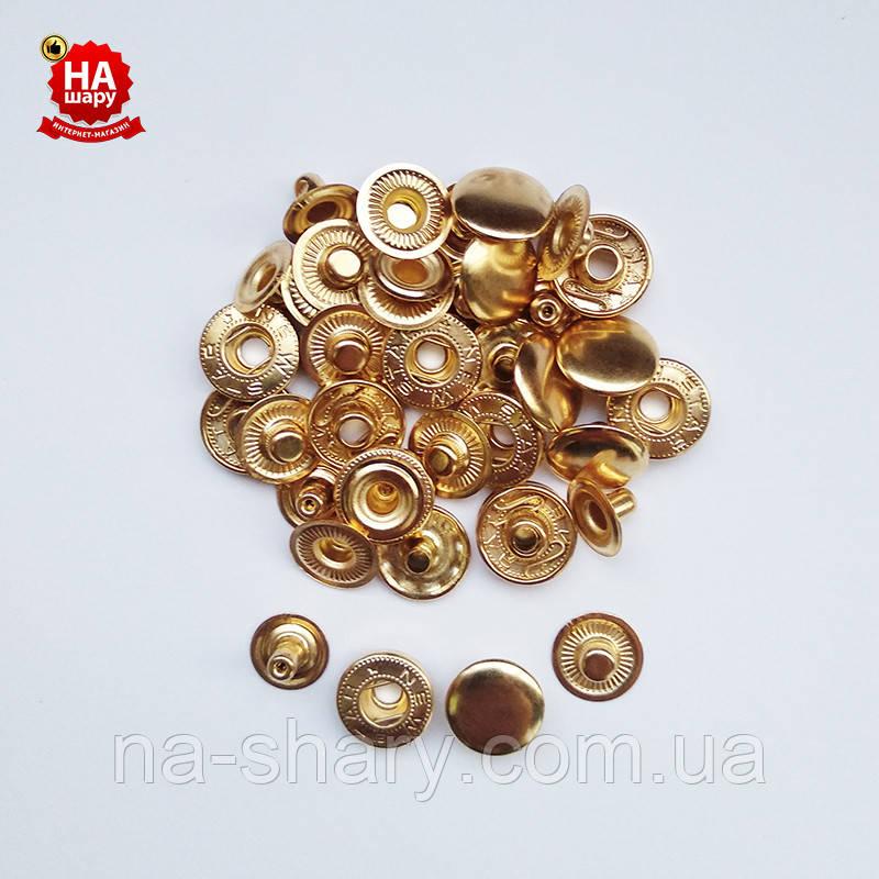 Кнопки одежні Альфа 15мм. Кнопки для курток, Золото (720шт)