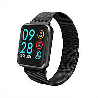 Умный спорт браслет P68 тонометр давление крови iPhone Android фитнес трекер пульсометр цветной экран черный
