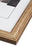 Рамка 20х20 из дерева - Дуб светлый 2,2 см - со стеклом, фото 2