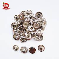 Кнопки на одежду Alfa 15мм. Кнопки для верхней одежды, Серебро (720шт)
