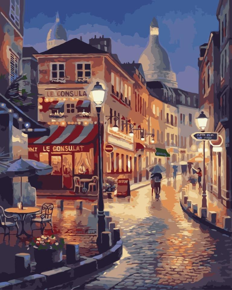 Картина по номерам Вечерний город 40 х 50 см (KHO2116)