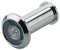 Глазок для входных дверей толщиной 36–55 мм из латуни хромированное B-14 мм 200 °
