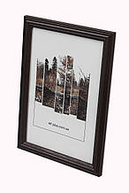 Рамка 20х20 из дерева - Дуб коричневый тёмный 2,2 см - со стеклом