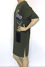 сукня оверсайз спортивного стилю з стразами Binka, фото 3