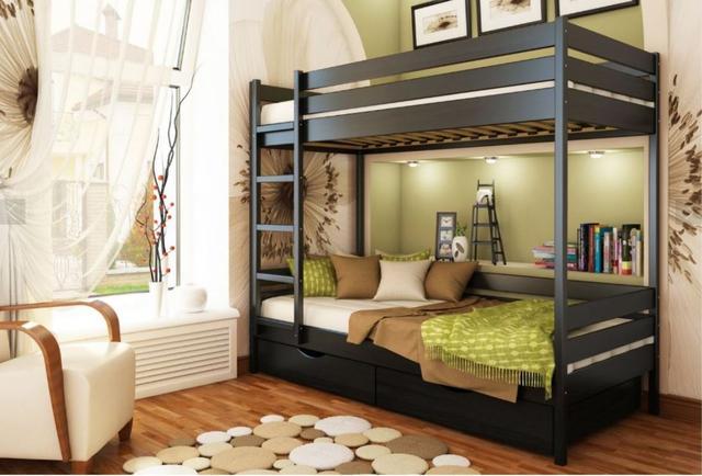 Кровать двухъярусная Дуэт тм Эстелла цвет №106 Венге (Бук Щит)